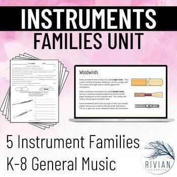 Instrument Families Unit BUNDLE