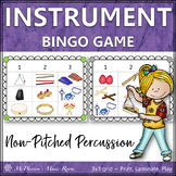 Musical Instruments Non-Pitched Percussion {Music Bingo Game}