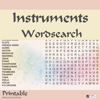 Instruments Wordsearch