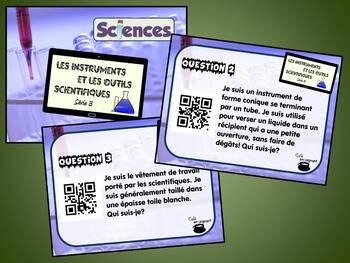 Instruments et outils scientifiques, série 3 (Cartes à tâches) (Sciences) (QR)