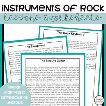 MUSIC : Instruments of Rock and Pop a Unit of Work for Middle School