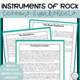Instruments of Rock Music Lessons and Worksheets