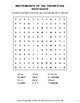 Instruments of the Orchest Word Search, Scramble,  Secret Code,  Crack the Code