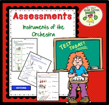 Instruments of the Orchestra Assessment Bundle