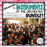 Instruments of the Orchestra BUNDLE - Elementary/Middle School