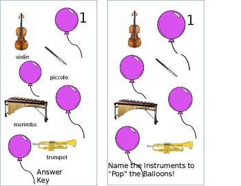 Instruments of the Orchestra Balloon Pop