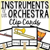 Instruments of the Orchestra Clip Cards