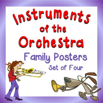Instruments of the Orchestra Family Posters
