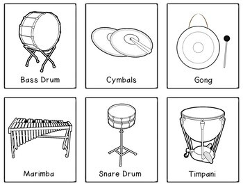 Instruments of the Orchestra: Flashcards