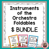 Music Instrument Families: Instruments of the Orchestra Foldables: BUNDLE