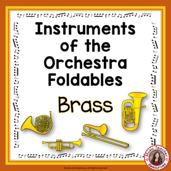 Instruments of the Orchestra Foldables: BRASS