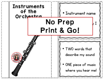Music Instruments: Instruments of the Orchestra Foldables: WOODWIND