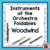 Music Instruments of the Orchestra Foldables: WOODWIND