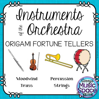 Instruments of the Orchestra Origami Fortune Tellers
