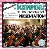 Instruments of the Orchestra Presentation - Elementary/Middle School