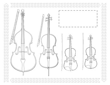 Instruments of the Orchestra Printable Posters and Worksheets