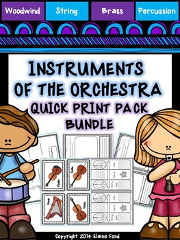 Instruments of the Orchestra Quick-Print Bundle