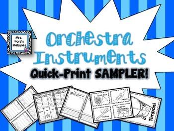 Orchestra Instruments Quick Print SAMPLER!