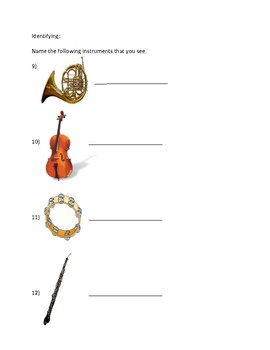 Instruments of the Orchestra Quiz
