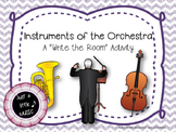 "Instruments of the Orchestra Scavenger Hunt--""Write the Room"" Activity"