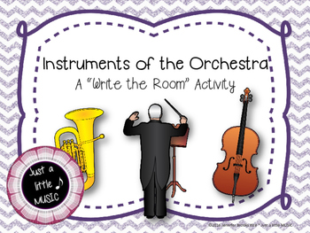 """Instruments of the Orchestra Scavenger Hunt--""""Write the Room"""" Activity"""