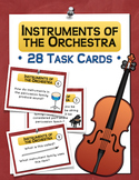 Instruments of the Orchestra Task Cards