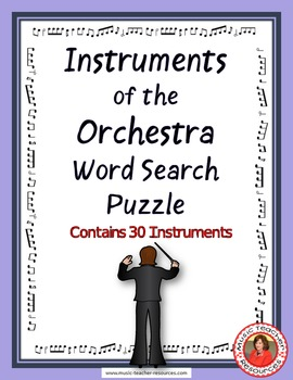 Instruments of the Orchestra Word Search Puzzle