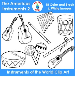 Instruments of the World - The Americas Instruments Set 2 Clip Art