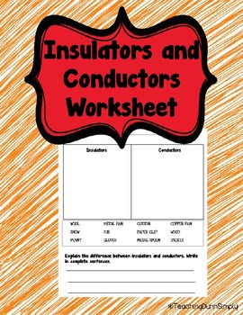 Insulator and Conductor Sort