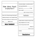 Insulators and Conductors of Heat Energy Flip Book {Aligned to SC standards}