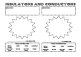 Insulators and conductors worksheet