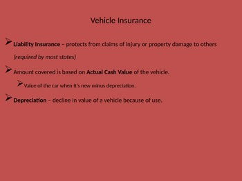Insurance: A presentation for notes