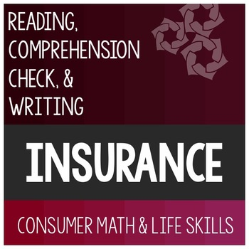 Insurance Article- Consumer Math Special Education