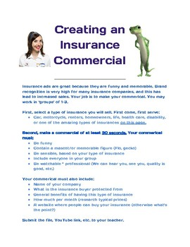 Insurance Commercial Creation Activity