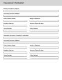Insurance Intake Form