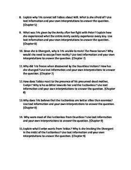 Insurgent (Divergent #2) Extended Response Prompts
