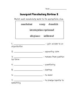 Insurgent Veronica Roth Novel Study