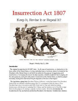 Insurrection Act 1807: Keep It, Revise it or Repeal It? by Gary ...