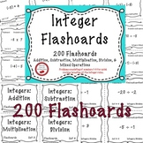 Adding and Subtracting Integers Multiplying and Dividing Integers Flashcards