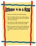 Integer 4 in a Row