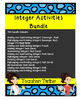 Integer Activities Bundle