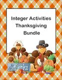 Integer Activities Thanksgiving Bundle