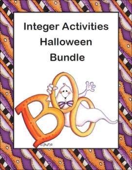 Integer Activities Halloween Bundle