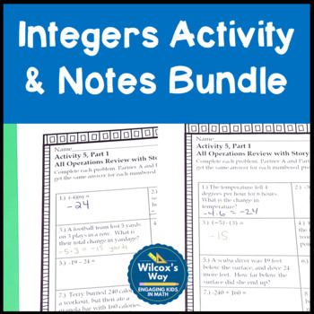 Integers Activity and Notes Bundle