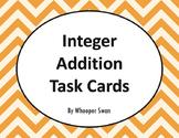 Integer Addition Task Cards