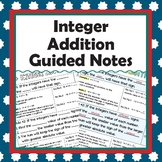 Integer Addition Guided Notes