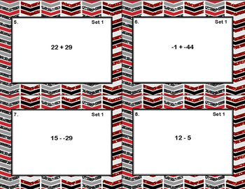 Integer Addition & Subtraction -Grades 7-8-Task Cards-CCSS.MATH.CONTENT.7.NS.A.1
