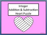 Integer Addition Subtraction Heart Puzzle