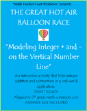 Integer Addition & Subtraction: Modeling with Hot Air Balloons