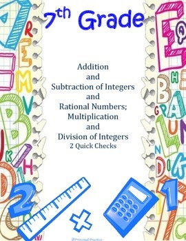 Integer Addition, Subtraction, Multiplication and Division